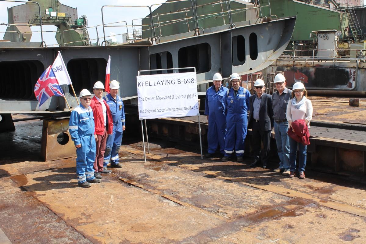Nauta Shipyard celebrates keel laying for fishing trawler