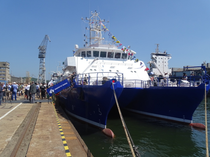 Oceanograf christened in Gdynia