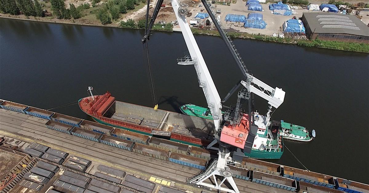 Port Szczecin - bulk cargo area to celebrate its 100 years anniversary
