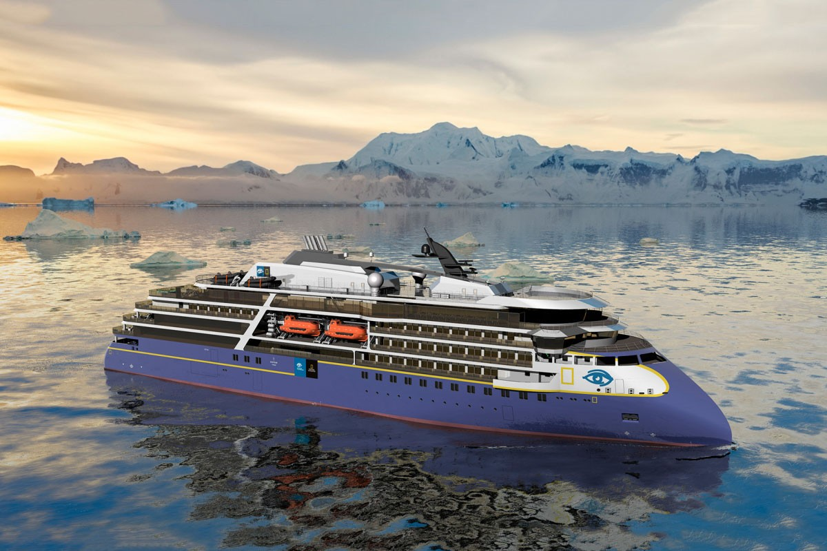 The construction of the polar passenger ship with X-BOW began at the CRIST shipyard
