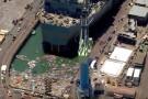Woda zalała suchy dok, a przy okazji amerykański okręt w budowie. Coś poszło nie tak (foto, wideo)