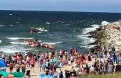 Dramatyczna akcja ratunkowa w Darłowie. Morze porwało troje dzieci