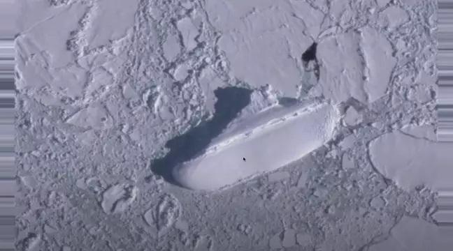 Internauta przez mapy Google znalazł olbrzymi zamarznięty statek na Antarktydzie! [wideo] - GospodarkaMorska.pl