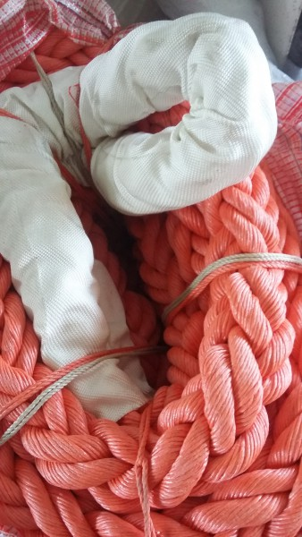 Mooring rope fi 72mm PP 40m 2 x with braided eyes i