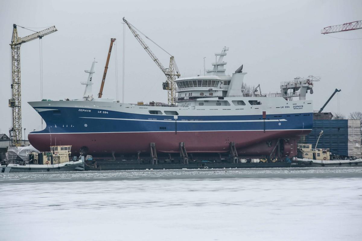 Polish shipyard finished construction of M/V Zephyr