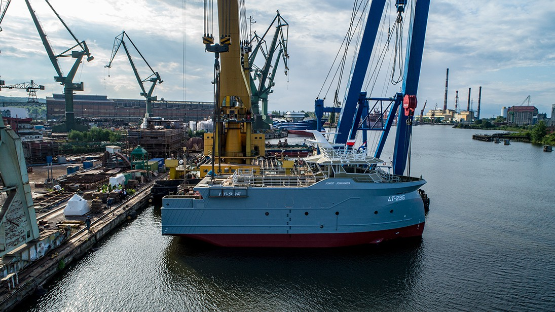Polish shipyard launched another trawler for Ekofish Group (photo, video)