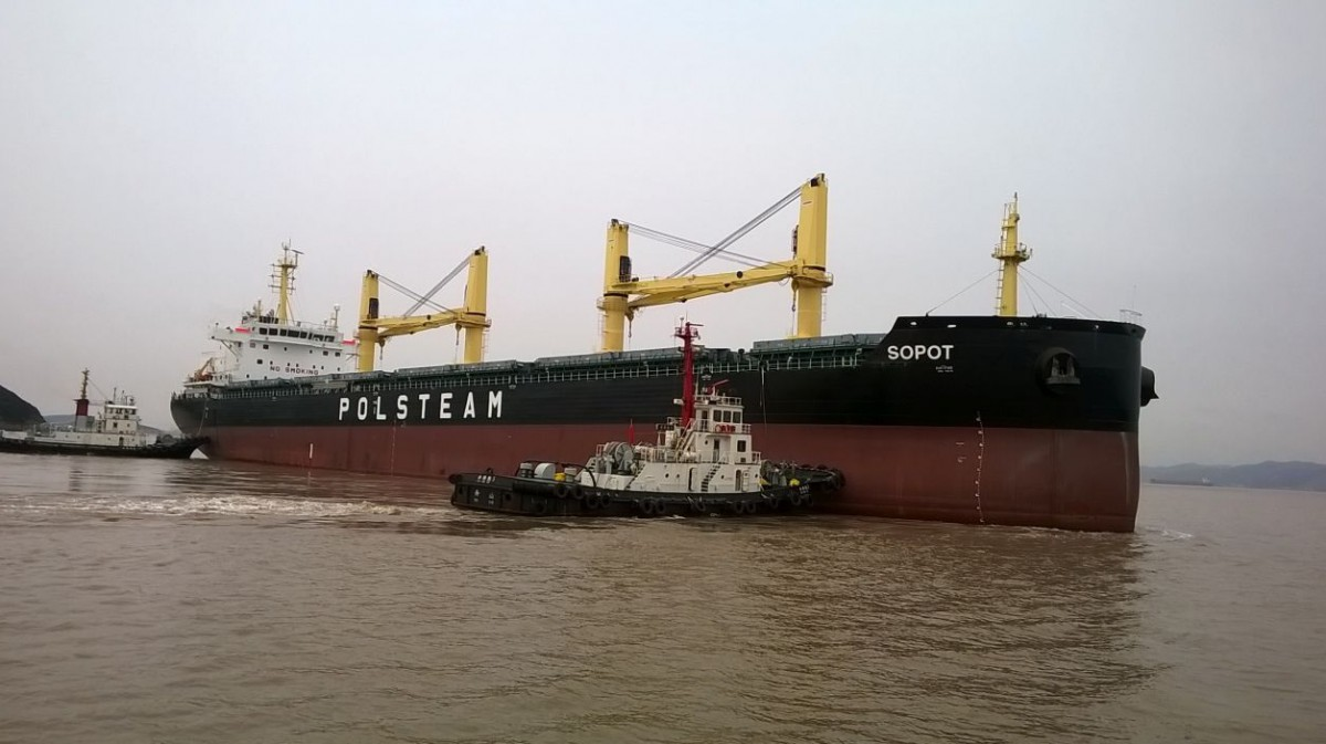The Sopot bulk carrier delivered to the Polsteam