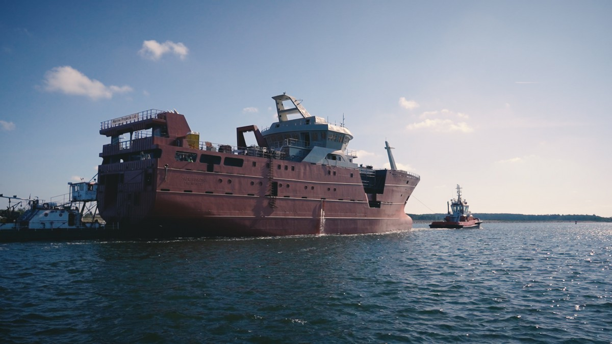 Marine Projects shipyard delivered a prototype fishing vessel [photo, video]