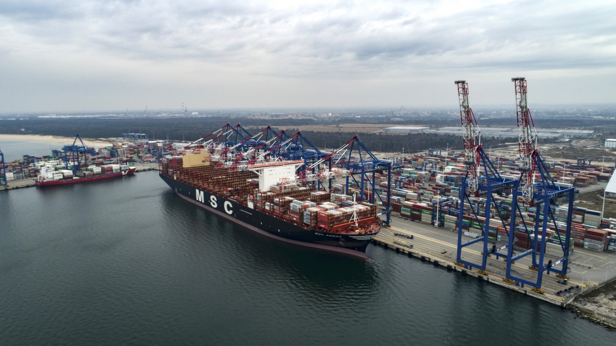 MSC Ambra for the first time at the Port of Gdansk (photo, video)