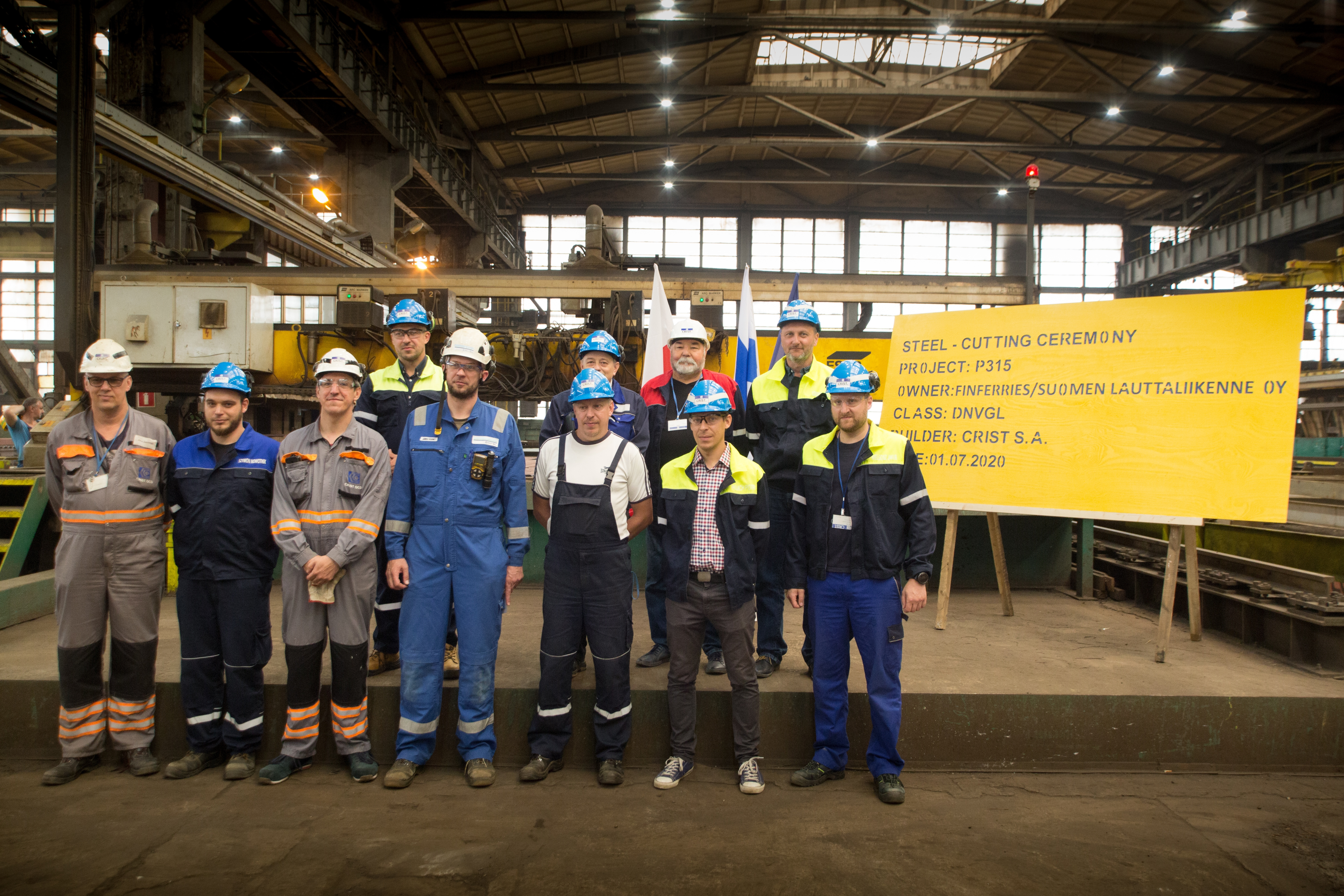 CRIST started steel cutting for another hybrid vessel