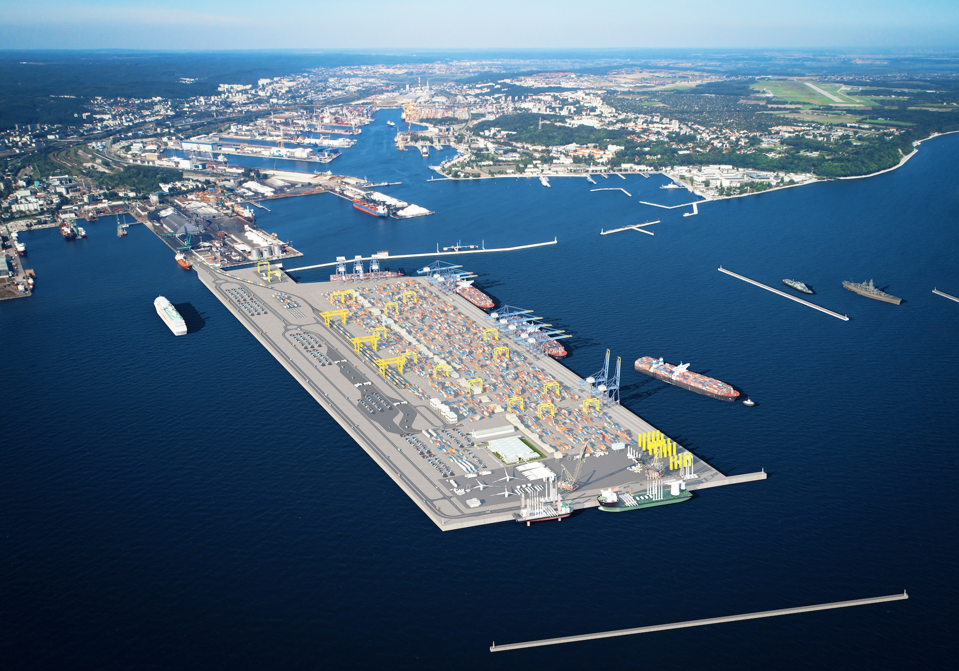The whole world eyes set on the Port of Gdynia – offers opened for a private partner for the Outer Port investment