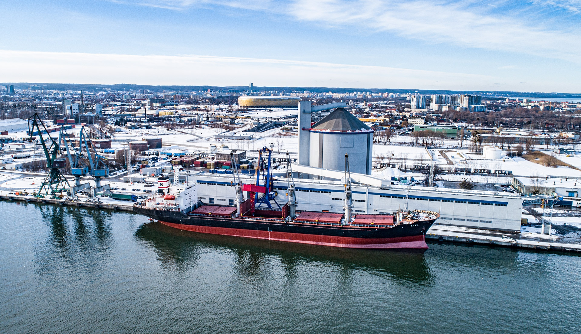 Pioneering loading of 15,000 tons of sugar at the new Sugar Terminal at the Port of Gdansk