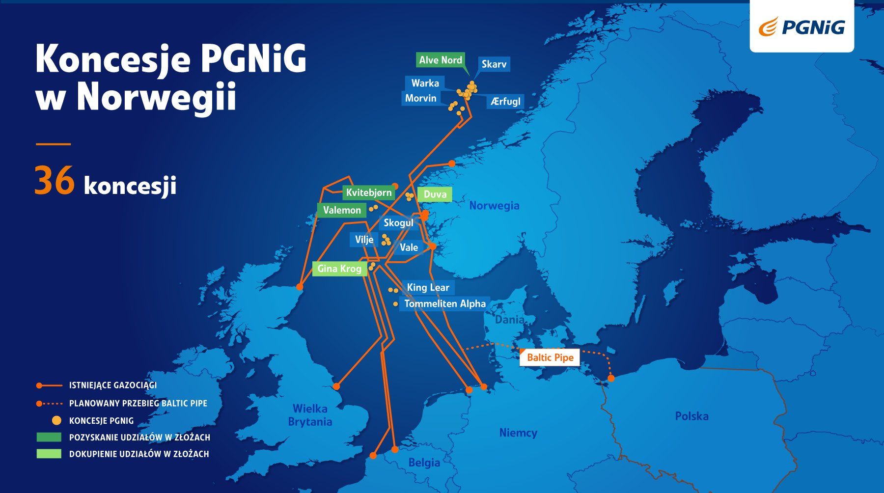 PGNiG to buy all assets of INEOS E&P Norge