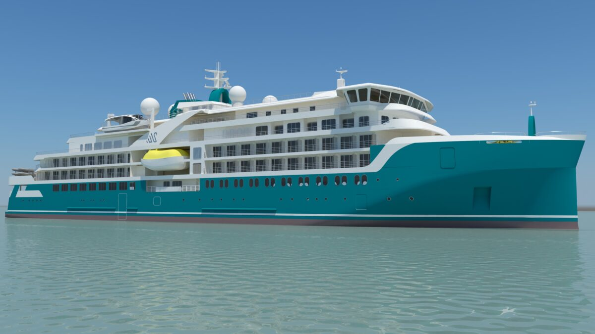 Crist hes started building the expedition cruise vessel for Helsinki Shipyard