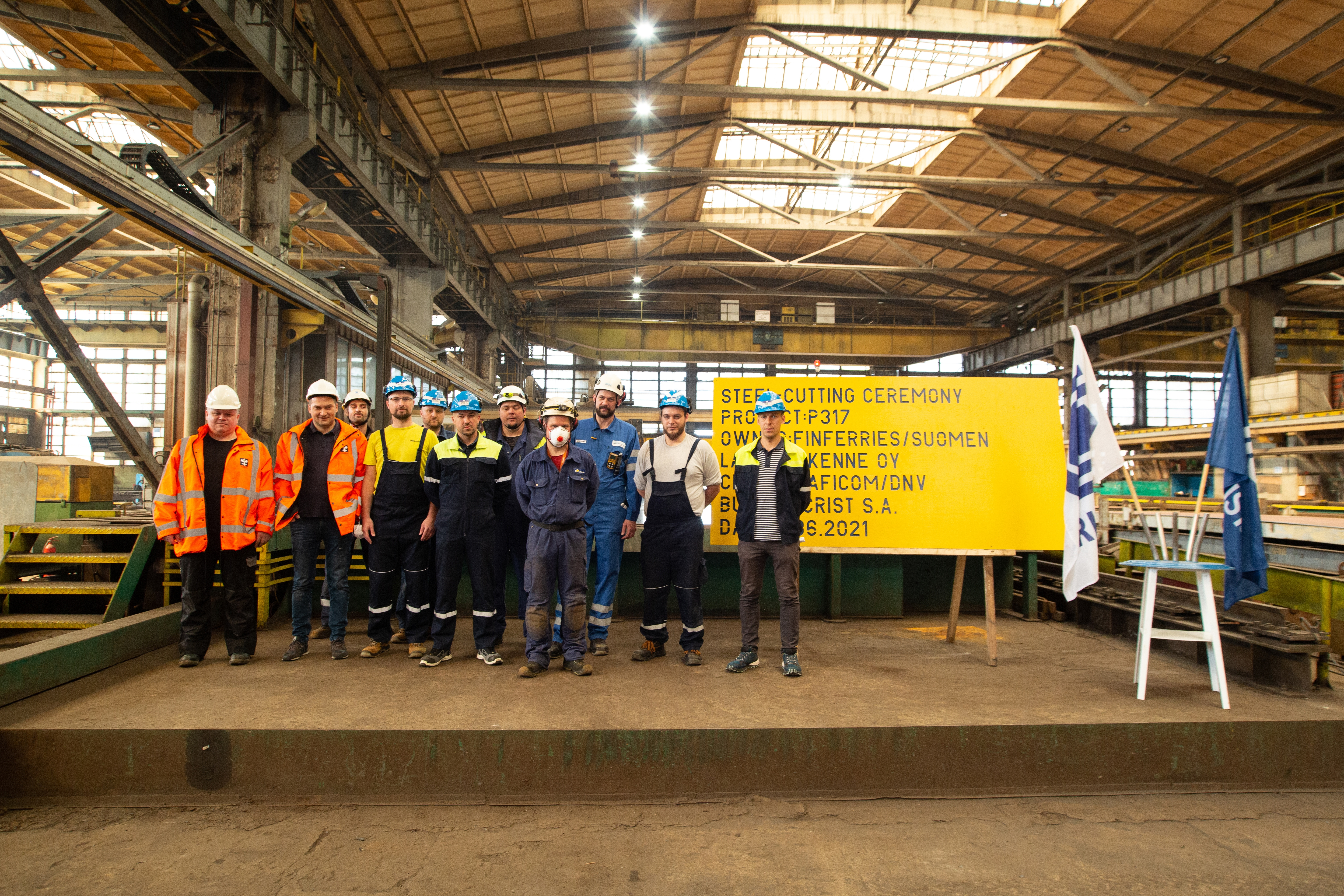 Next hybrid ferry is being built at the CRIST shipyard