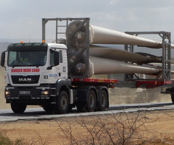 Delivery of turbines for lake Turkana wind power project completed ahead of schedule