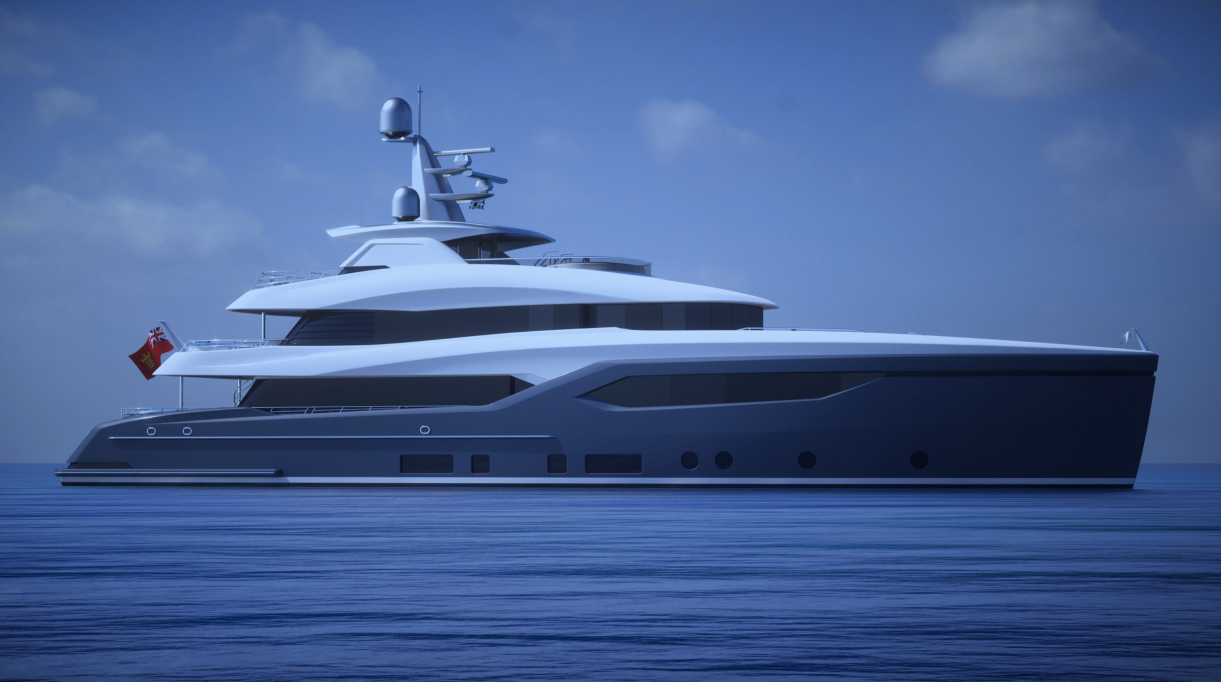 The Conrad C133S Straight Bow - new yacht model from Conrad Shipyard