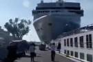 Rozpędzony wycieczkowiec staranował nabrzeże i mniejszy statek w Wenecji [wideo]