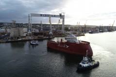 Stocznia CRIST przekazała częściowo wyposażony statek dla morskiej energetyki wiatrowej (foto, wideo)