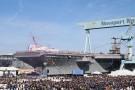 Lotniskowiec USS John F. Kennedy ochrzczony przez córkę prezydenta (wideo)