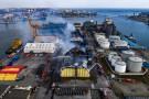 Spłonęła największa hala magazynowa Bałtyckiego Terminalu Zbożowego w Gdyni (foto, wideo)