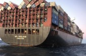 AMSA zatrzymuje kontenerowiec APL England z powodu nieodpowiednich mocowań