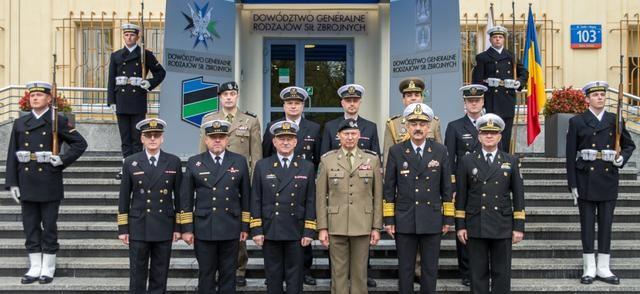 f710773ede4a8 Dowódca Rumuńskiej Marynarki Wojennej wiceadmirał Alexandru Mirsu złożył  wizytę w Dowództwie Generalnym Rodzajów Sił Zbrojnych.