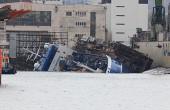 Wypadek w Naucie. Statek, który przechylił się w doku - stabilny