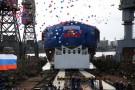 Rosja: Lodołamacz Sybir o napędzie atomowym zwodowany w Petersburgu (wideo)