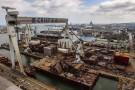 Wodowanie megabloku kadłuba nowoczesnego wycieczkowca w stoczni CRIST (foto, wideo)