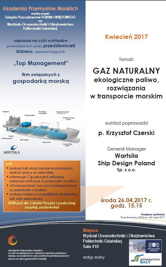 Akademia Przemysłów Morskich - gaz naturalny, ekologiczne paliwo w transporcie morskim - GospodarkaMorska.pl