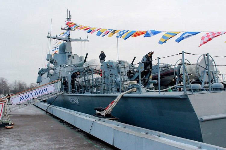 Rosja/Prasa: Okręt rakietowy Karakurt przyjęty do służby we Flocie Bałtyckiej (wideo) - GospodarkaMorska.pl