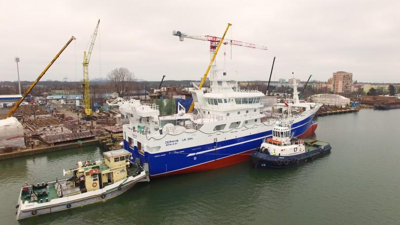 Statek rybacki Zephyr ze stoczni Marine Projects Ltd. wypłynął z Gdańska do Norwegii (foto, wideo) - GospodarkaMorska.pl
