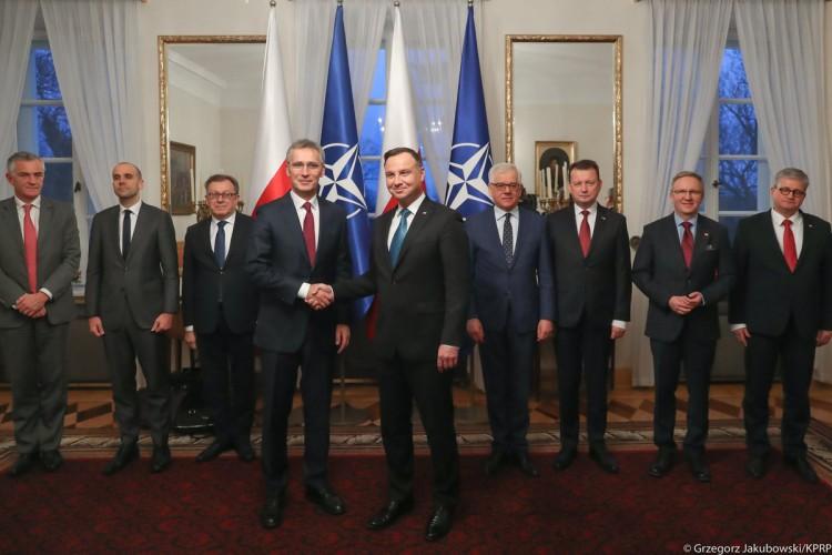 Prezydent po spotkaniu z szefem NATO: Realizujemy nasze zobowiązania sojusznicze - GospodarkaMorska.pl