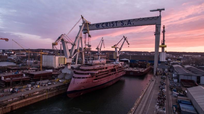 Stocznia CRIST zakończyła budowę polarnego statku pasażerskiego National Geographic Endurance (foto, wideo) - GospodarkaMorska.pl