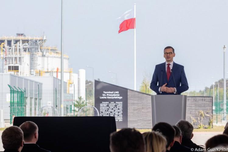 Morawiecki: Gazociąg Baltic Pipe powstanie zgodnie z planem - GospodarkaMorska.pl