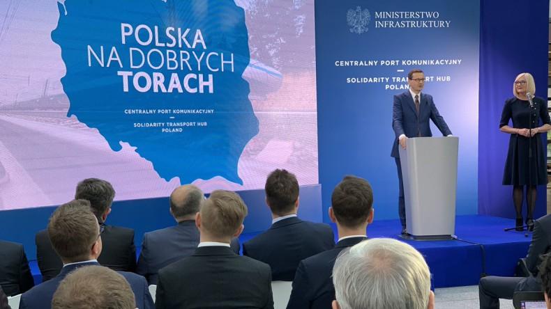 Morawiecki: CPK jednym z głównych rozwiązań logistycznych dla krajów Trójmorza - GospodarkaMorska.pl