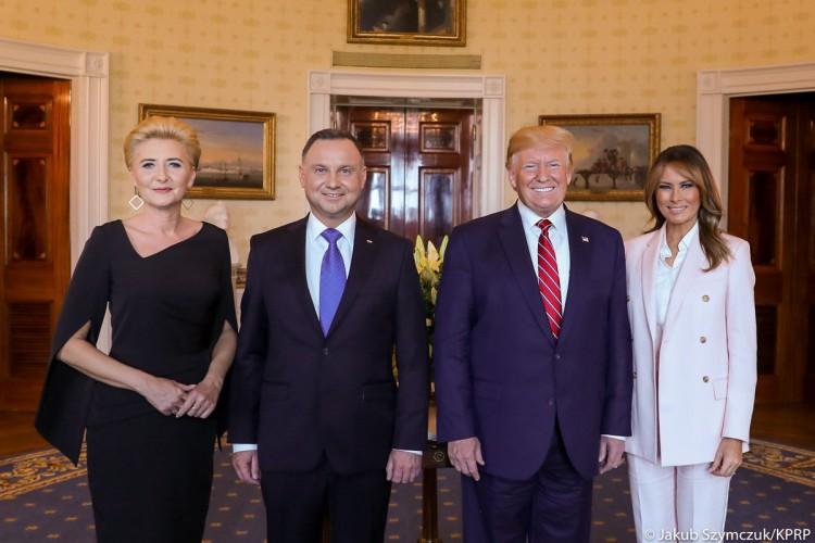 Trump: Gratuluje prezydentowi Dudzie, że Polska płaci na obronność 2 proc. PKB - GospodarkaMorska.pl
