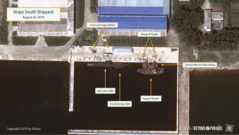Korea Północna: Zdjęcia satelitarne sugerują, że KRLD buduje nowy okręt podwodny - GospodarkaMorska.pl