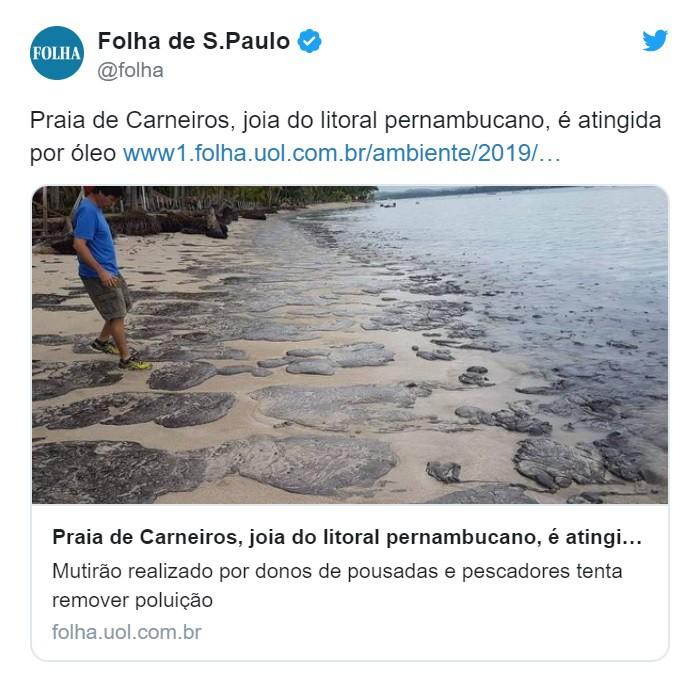 Brazylia: Plama zużytego oleju silnikowego dotarła do plaży Carneiros (wideo) - GospodarkaMorska.pl