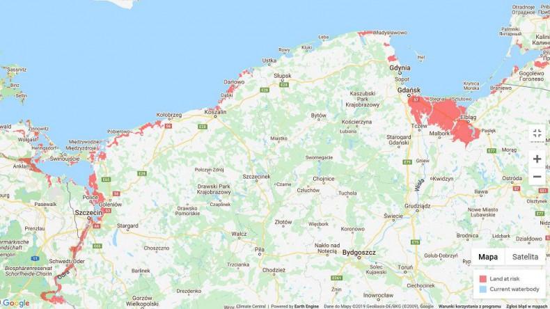 Drastyczny wzrost poziomu mórz na świecie zagraża polskiemu wybrzeżu (mapa) - GospodarkaMorska.pl