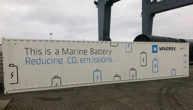 Maersk stawia na akumulatory elektryczne w swoich kontenerowcach - GospodarkaMorska.pl