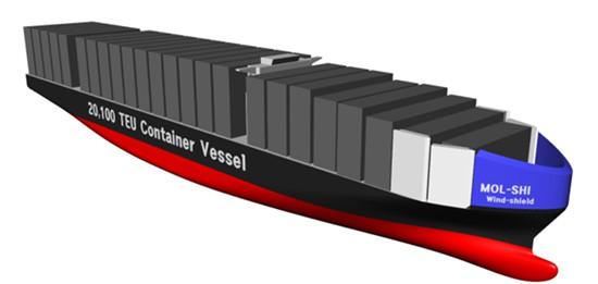 Samsung i MOL zaprojektowały innowacyjną osłonę dziobową dla kontenerowców - GospodarkaMorska.pl
