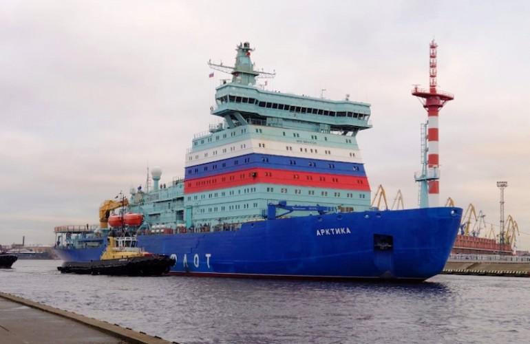 Największy na świecie atomowy lodołamacz zakończył pierwszy etap prób morskich - GospodarkaMorska.pl