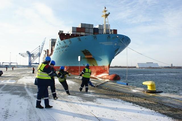 Mija 10 lat od zawinięcia pierwszego oceanicznego kontenerowca Maersk do DCT Gdańsk - GospodarkaMorska.pl