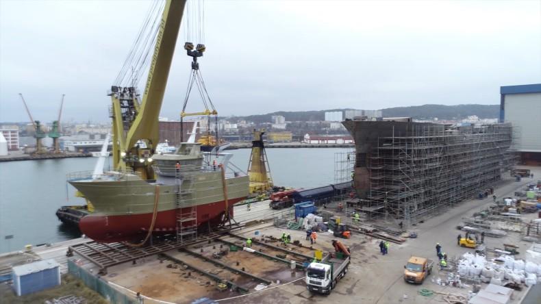 Kolejne wodowanie w Karstensen Shipyard Poland. Pełen portfel zamówień na rok 2020 (foto, wideo) - GospodarkaMorska.pl