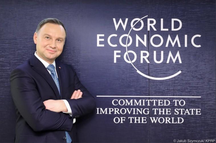 Prezydent Duda rozpoczyna udział w Światowym Forum Ekonomicznym - GospodarkaMorska.pl