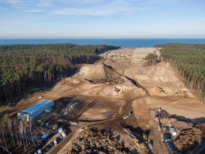 Przekop Mierzei - zobacz, co dzieje się na placu budowy (foto, wideo) - GospodarkaMorska.pl