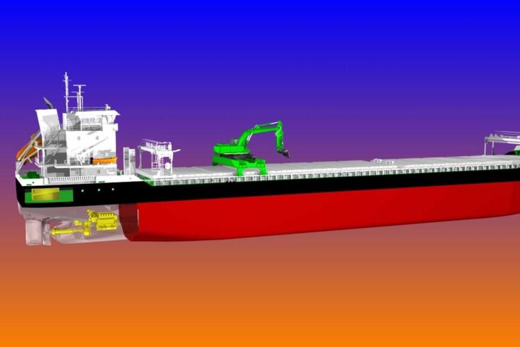 Pierwsze na świecie hybrydowe masowce samorozładowcze zamówione przez Aasen Shipping - GospodarkaMorska.pl