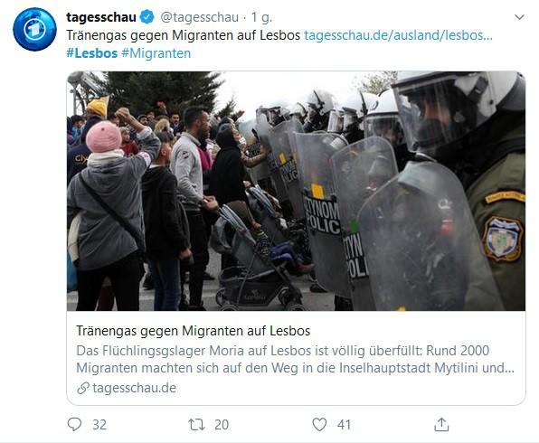 Grecja: Policja użyła gazu łzawiącego przeciw protestującym migrantom - GospodarkaMorska.pl